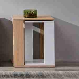 side mdf corner table table