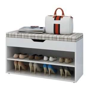 chair with shoes cabinet