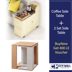 coffee side table+ 2 set side table