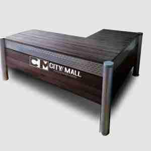 Office furniture- wood desk with shelves 80*50*145