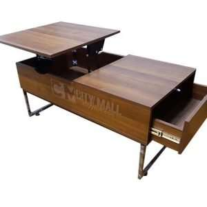 Lift Top Folding Modern Coffee Table with Drawers for Living Room