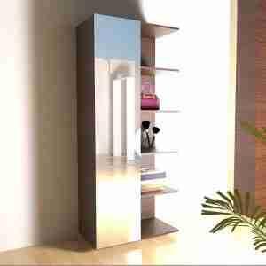 Dresser unit - wardrobe cabinet mirror closet with shelves