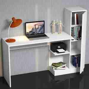 Office furniture- wood desk with storage unit & shelves 150*50*120