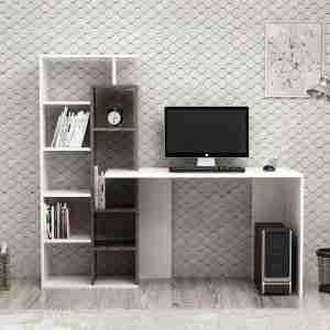 Office furniture- wood desk with side storage unit 162*60*148