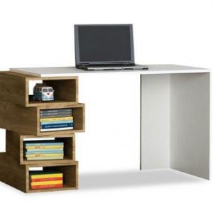 مكتب خشب مودرن بارفف جانبية