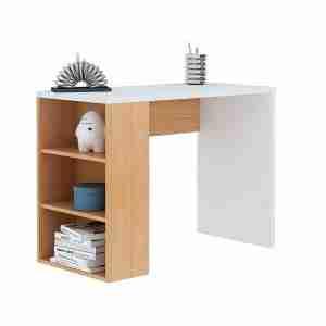 مكتب خشب مودرن يحتوي علي وحدة ارفف جانبية مقاس 120سم - اثاث مكتبي