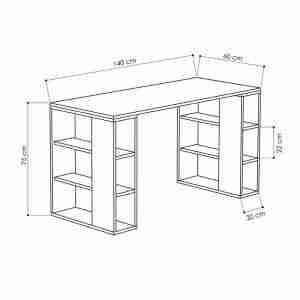 مكتب خشب بوحدتين ارفف