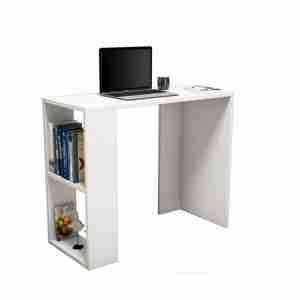 Office furniture- wood desk with 1 side shelves 120*50*75