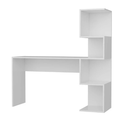 Office furniture- wood desk with one side shelves 140*40*140