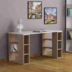 Office furniture- wood desk with side shelves 120*50*75